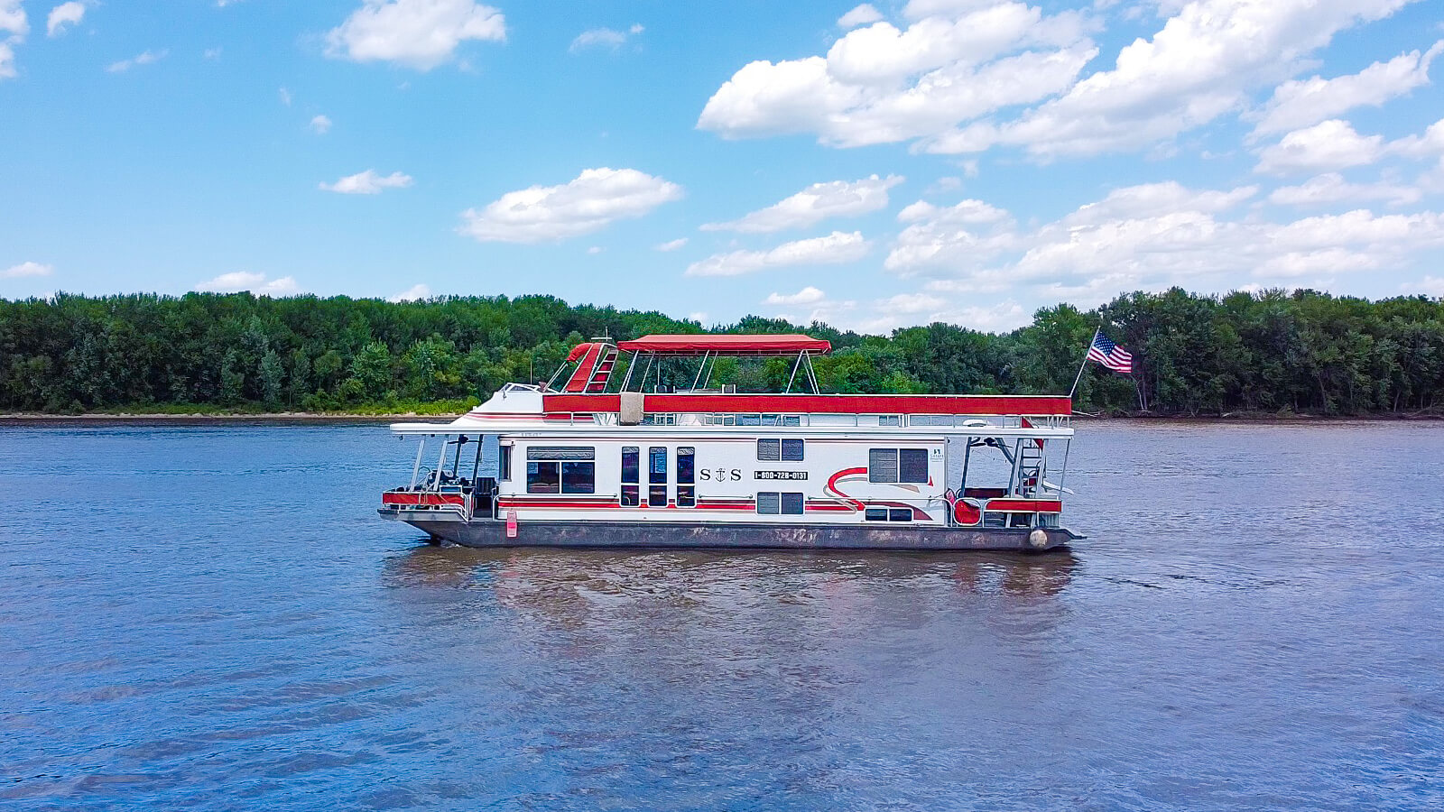 S&S Rentals Party Top Sharpe houseboat