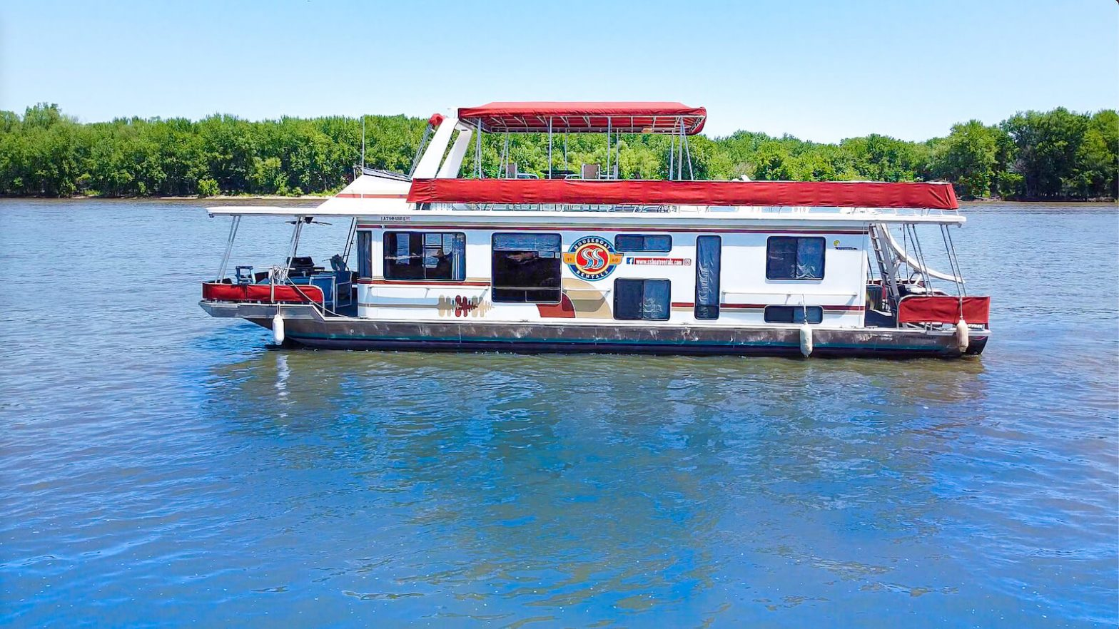S&S Rentals 58' Riverview houseboat